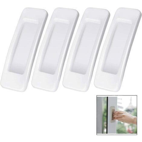 4 Pieces Handle Sticker Sliding Door - White