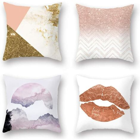 4 pieces of cute sofa pillow cases, single sofa pillow cases, suitable for living room, bedroom, hotel sofa (45 * 45cm)