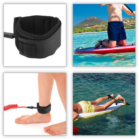 4 Pieds Cheville Elastique Enroule Surf Leash Stand Up Paddle Board Leg Corde Cheville Surfboard Leash, Noir