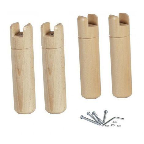 4 pieds pour cadre à lattes bois naturel 22 cm - Bois naturel