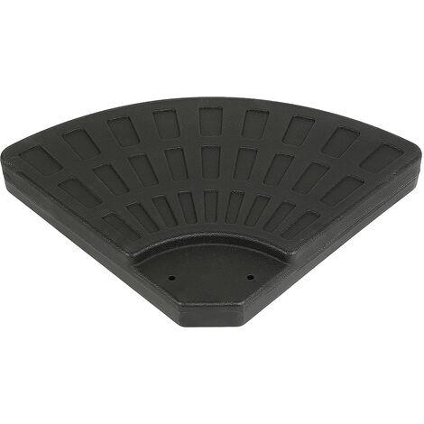 4 piezas Conveniente parasol redondo Contrapeso Placa 96 * 96 * 8 cm