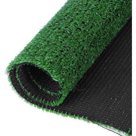 4 piezas de césped artificial Roll Rest Offcut Realistic Carpet Green Garden 0.5x1m 2.5cm de espesor