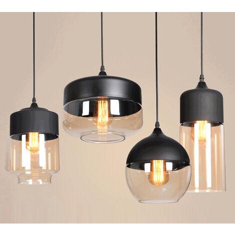 4 Piezas,Lámpara Colgante de Vaso Nórdica Lámpara Colgante Vintage, Lámpara Colgante Retro Industrial Moderna