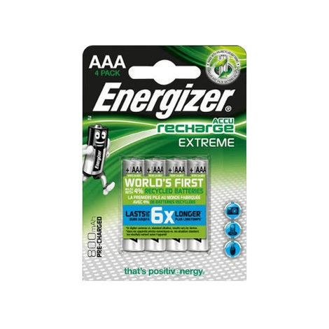 4 Piles AAA 800mAh HR03 Extreme ENERGIZER