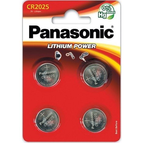 4 piles bouton CR2025