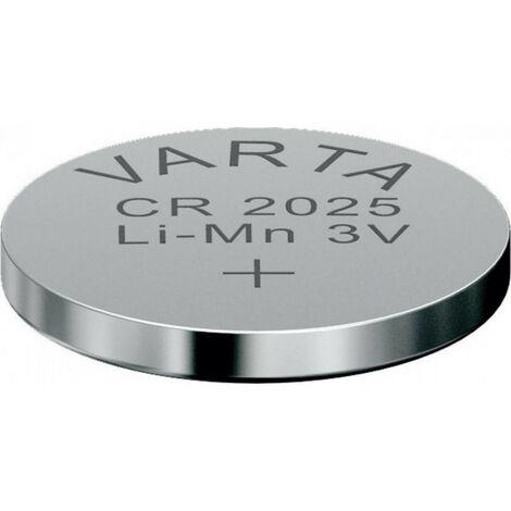 4 Piles bouton CR2025 Varta Lithium 3V (6025101404)