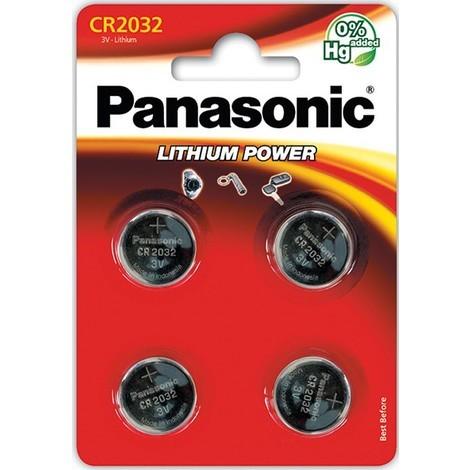 4 piles bouton CR2032