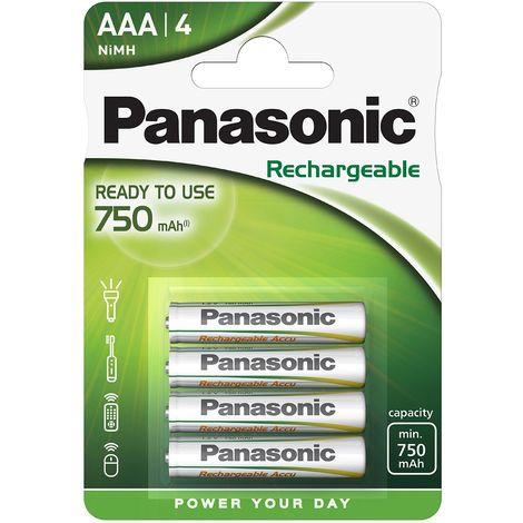 4 Piles rechargeables AAA LR03 HHR-4MVE