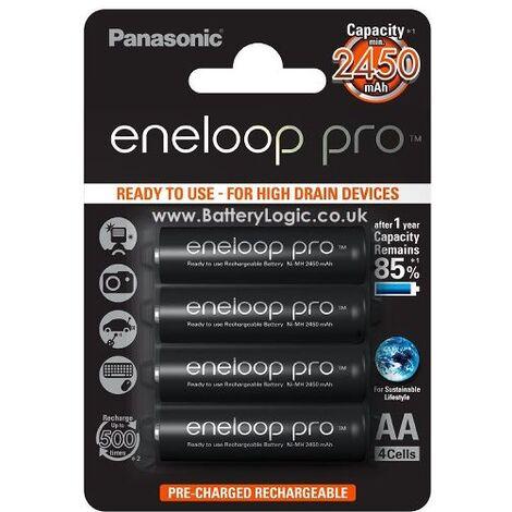 4 piles rechargeables accu PANASONIC ENELOOP XX LR6 AA 2450mAh
