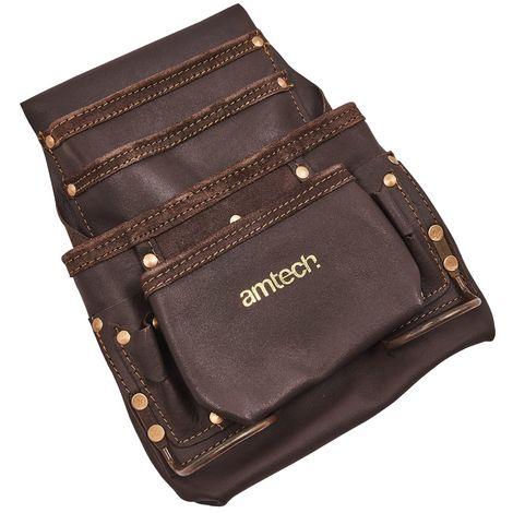 4 Pocket Heavy Duty Leather Tool Belt