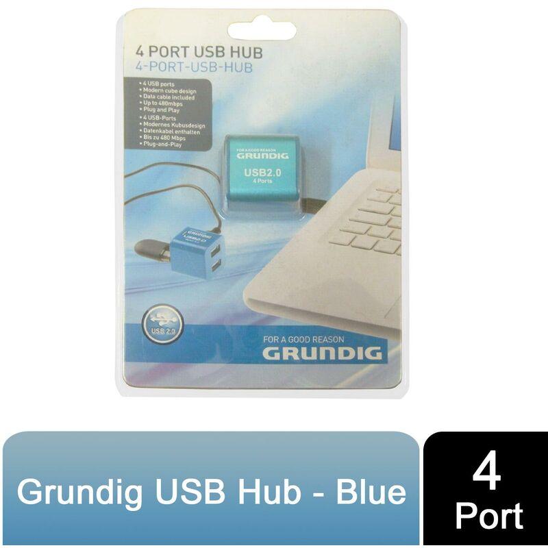 Image of 4 port USB Hub pvc Blue - Grundig