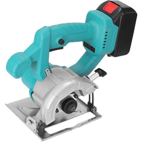 4 pulgadas 21V circular electrica sierra de corte 0-34mm Profundidad ajustable bateria de litio de la carpinteria Herramienta De Madera Marmol corte de la maquina
