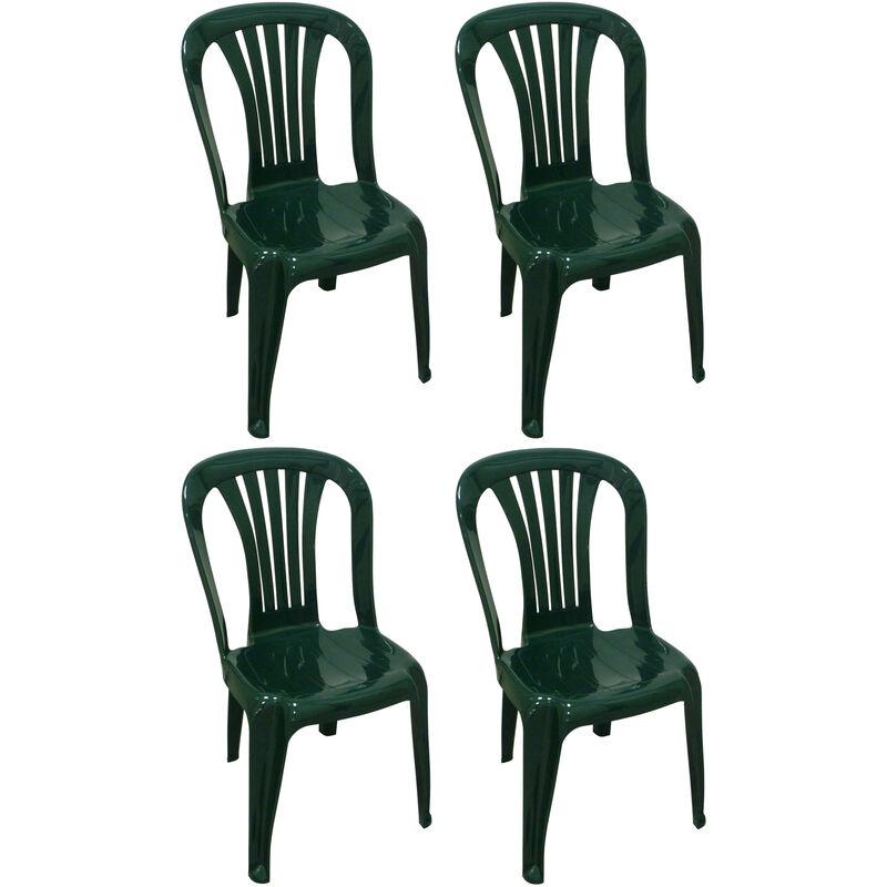 Sedie Da Bar In Plastica.4 Pz Poltrona Sedia Iride In Dura Resina Di Plastica Verde Impilabile Senza Braccioli Per Bar Campeggio Sagra Ristorante Giardino Balcone