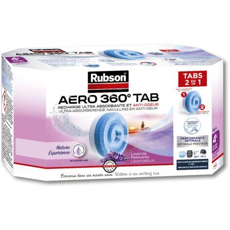 4 Recharges pour absorbeur aéro 360° Lavande RUBSON