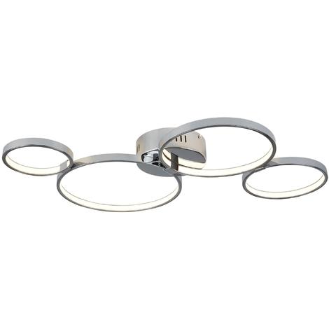 4 Ring LED Ceiling Flush Chrome by Washington Lighting