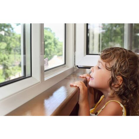 4-room baby safety sliding door lock, Children's safety sliding window lock with ribbon, keyless baby-free anti-glass door lock, for terrace, closet, sliding shower door