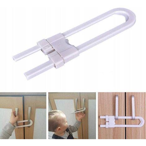 4-room sliding lock latch, child-proof baby safety design for kitchen cabinet door handle