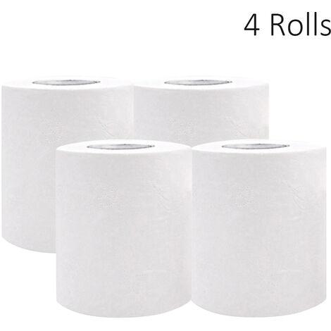 4 Rouleaux De Serviette Tissus Mous Papier Toilette 4 Couches Thicken Forte Absorption D'Eau Pour La Maison Salle De Bains Exterieure Bois Papier Pate A Papier