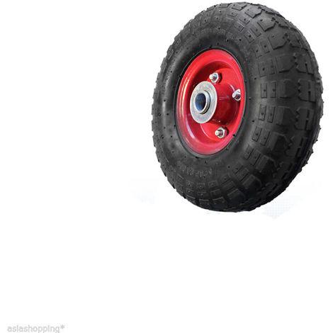 4 ruote in gomma pneumatica 260 mm cuscinetti a sfera per carrelli portapacchi