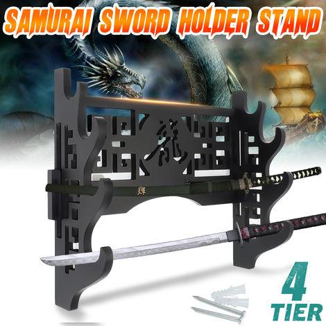 4 Samurai Sofas Sword Holder Katana Wall Mount Bracket Display Stand Bracket
