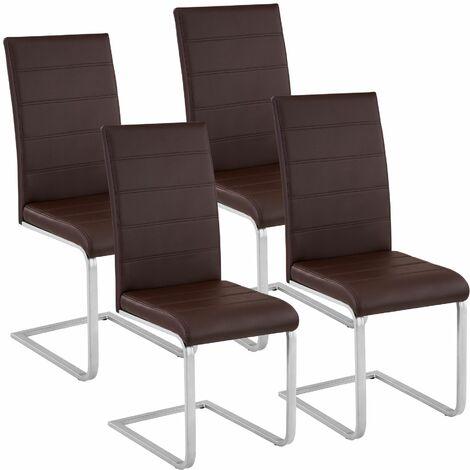 4 Schwingstühle, Kunstleder - Esszimmerstühle, Küchenstühle, Schwingstuhl