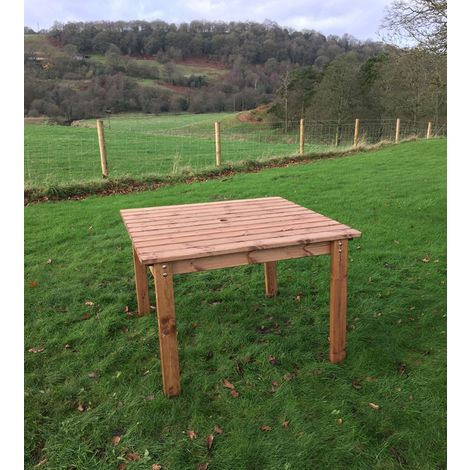 4 Seat Square Dining Table, wooden garden furniture, fully assembled