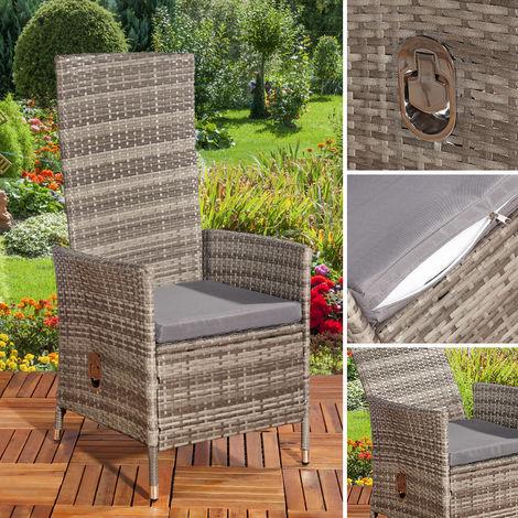 4-seater adjustable garden recliner Polyrattan garden furniture balcony seating