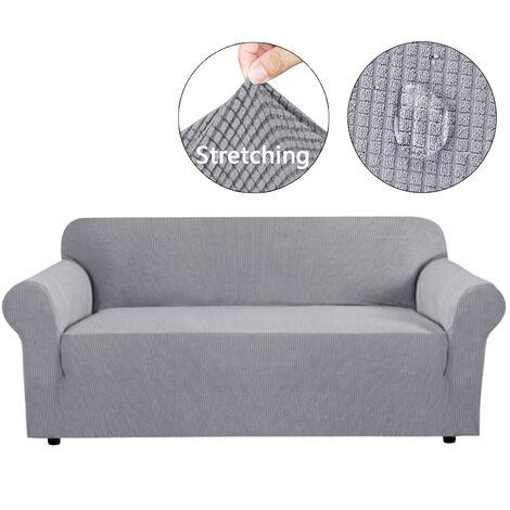 4-Seater Waterproof Sofa Cover Furniture Protector Wrap lightgrey