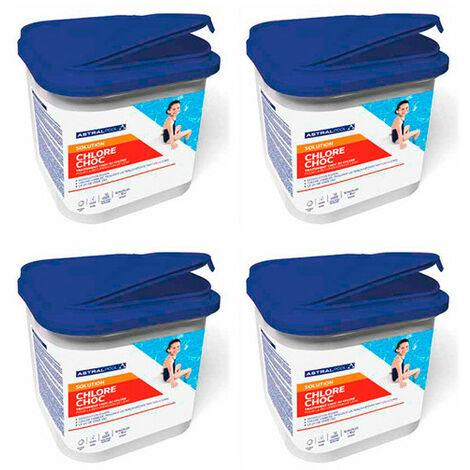 4 seaux de chlore choc en pastilles de 20 g - 5 kg AstralPool