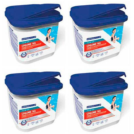 4 seaux de chlore en granulé 90 - 5 kg AstralPool