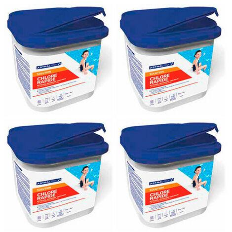 4 seaux de chlore rapide granulés 5 kg AstralPool