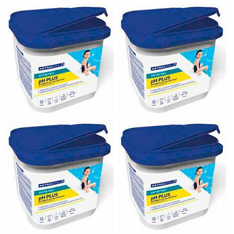 4 seaux de régulation PH plus poudre 5 kg AstralPool