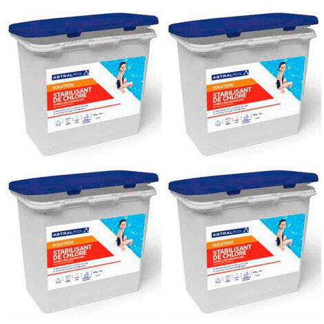 4 seaux de stabilisant de chlore - 4,5 kg AstralPool