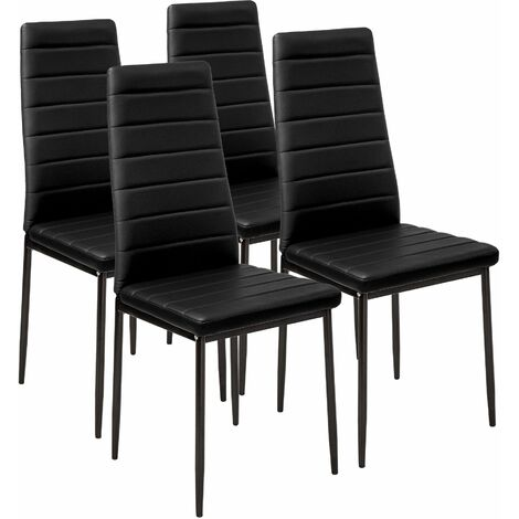 Sedia Sala Da Pranzo Pelle.4 Sedie Da Sala Da Pranzo In Pelle Sintetica Sedie Moderne
