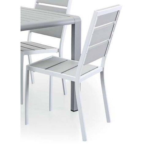 Sedie Alluminio E Legno.4 Sedie In Alluminio E Legno Sintetico Modigliani 2 Munus