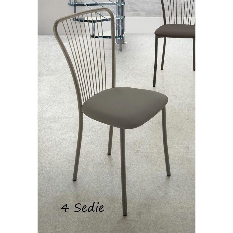 4 Sedie Da Cucina.4 Sedie In Metallo Grigio Da Cucina Ecopelle Imbottita Moderna Sala Da Pranzo Tatiananeanmm