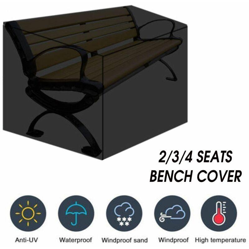 Mohoo - 4 sièges banc chaise bureau meubles couverture imperméable Parkland jardin protecteur (4 sièges-190x66x89cm)
