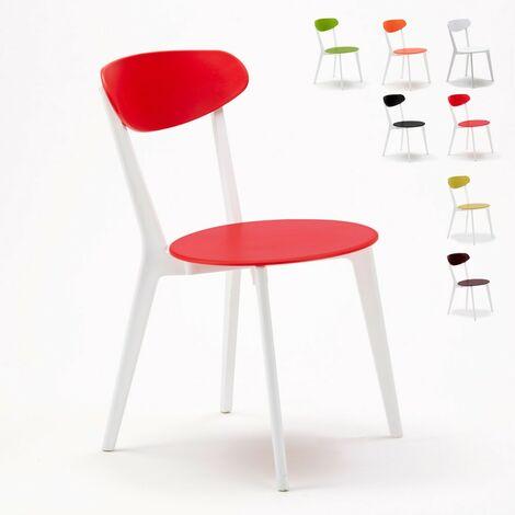 4 Sillas cocina bar restaurante CUISINE de diseño | Rojo - SC659PP4PZR