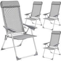 4 sillas de aluminio con respaldo