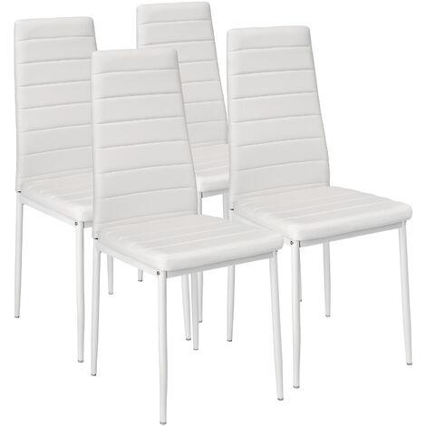 4 sillas de comedor de poli piel