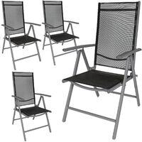 4 sillas de jardín de aluminio
