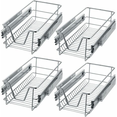 4 Sliding wire baskets with drawer slides - sliding wire baskets, drawer slides, kitchen drawer runners