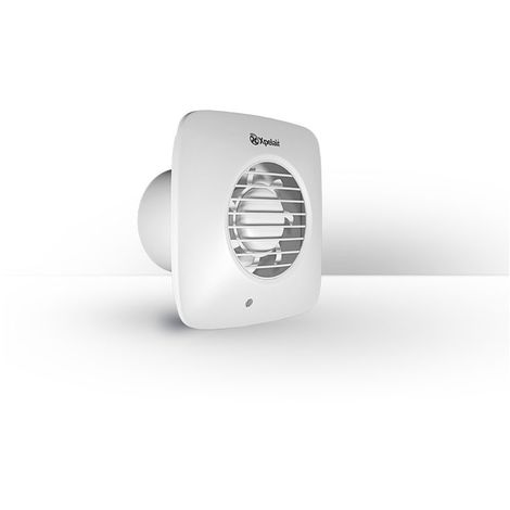 """4"""" Square Extractor Fan with Timer and Wall Fixing Kit in Cool White"""