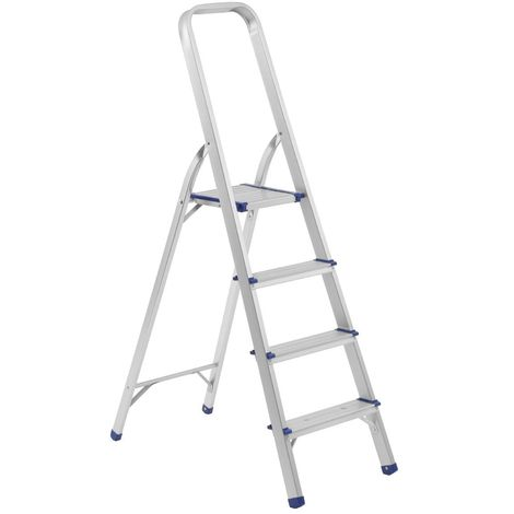 4 Step Ladder,Aluminium,Folding