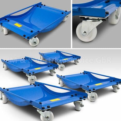 4 Stück Rangierhilfen Rangierroller Rangierheber für PKW Auto Anhänger belastbar bis 450 kg pro Rangierroller