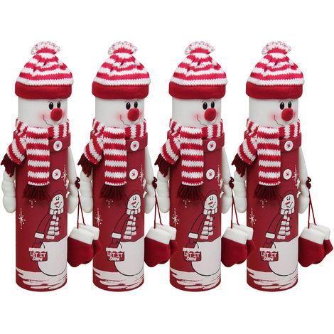 Celebrations & Occasions 2er Set Weihnachtliche Flaschendose Ø10xH36cm Flaschenbox Flaschenverpackung M2