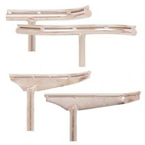 4 Supports d'outils courbes pour tour à bois Q. 25 mm