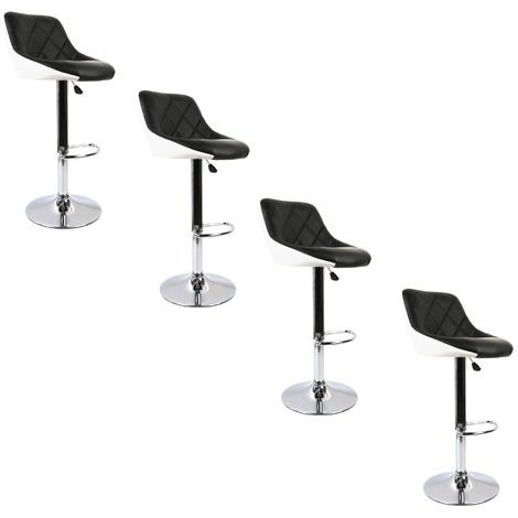 4 *Tabouret de Bar Lot de 2 en Cuir synthétique 2 tabourets Facile à Nettoyer