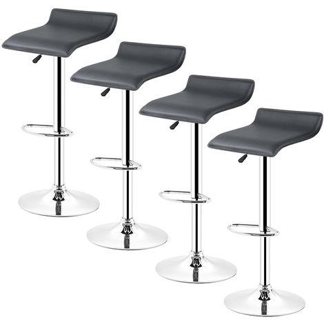 4* tabourets de bar chaise bistrot réglable pivotant siège Européen style noir