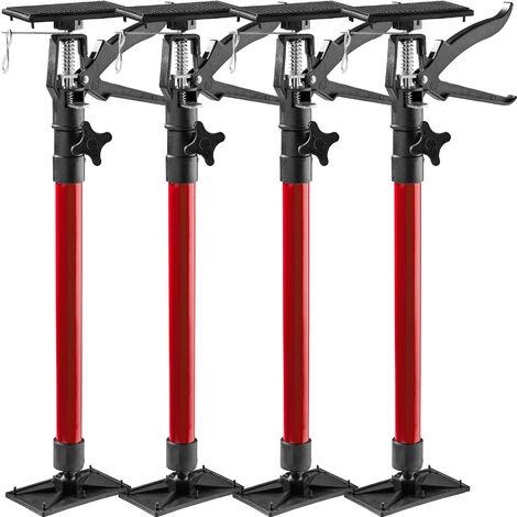 4 Tensores para puerta - puntales telescópicos de acero, tensores de puertas ajustables en altura, soportes universales con placa reclinable